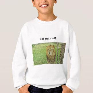 10代のなトレーナー、おりに入れられるライオン動物園動物 スウェットシャツ