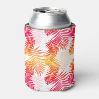 10代のな女の子のヤシの木の葉の粋な夏のファッション 缶クーラー
