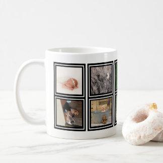 10写真のコラージュ|カスタムなInstagramのモダン家族 コーヒーマグカップ