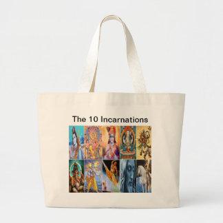 10化身のトート ラージトートバッグ