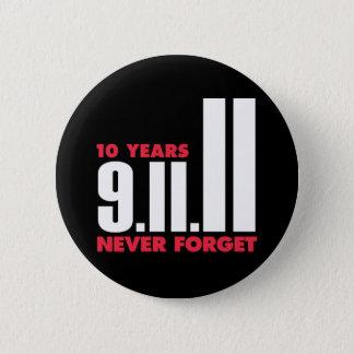 10年記念日の9月11日ボタン 缶バッジ