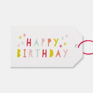 10幸せなbrithdayギフトのラベルのパック ギフトタグ