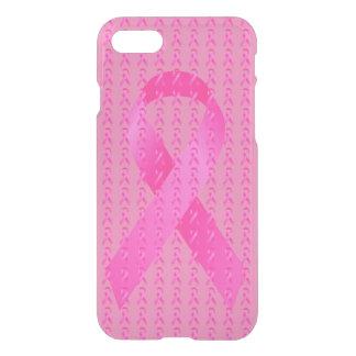 10月の乳癌の認識度月のピンクのリボン iPhone 8/7 ケース