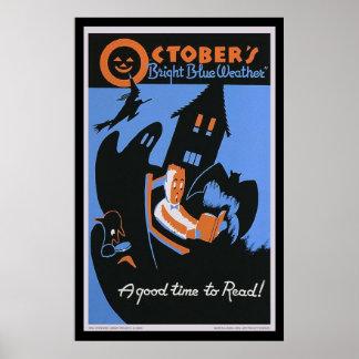 10月の明るく青い天候 ポスター