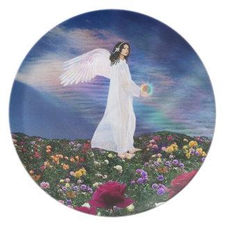 10月の誕生の石の誕生日の天使 プレート