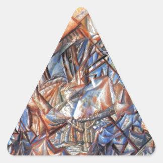 10月。 景色。 Pavel Filonov著方式 三角形シール