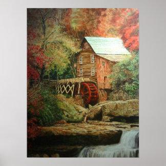10月Gristmillのキャンバスのプリント ポスター