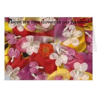 10私達の庭に新しい花があります カード