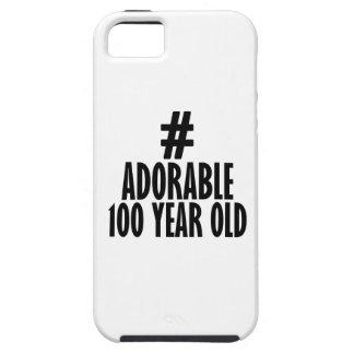 100つの歳の誕生日のデザインを向くこと iPhone SE/5/5s ケース