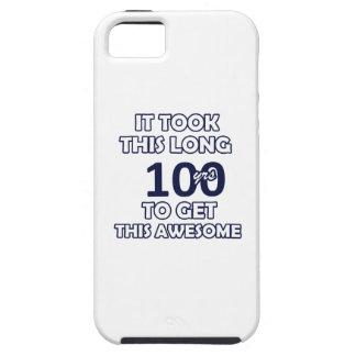 100つの誕生日のデザイン iPhone SE/5/5s ケース