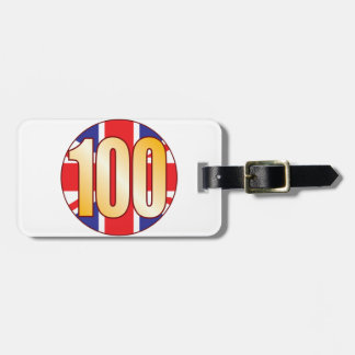 100イギリスの金ゴールド ラゲッジタグ