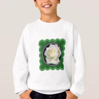 100ギフトのエレガントな白いバラの花の花の写真 スウェットシャツ