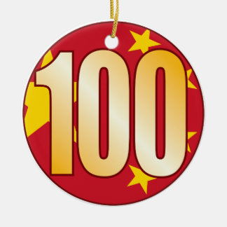 100中国の金ゴールド セラミックオーナメント