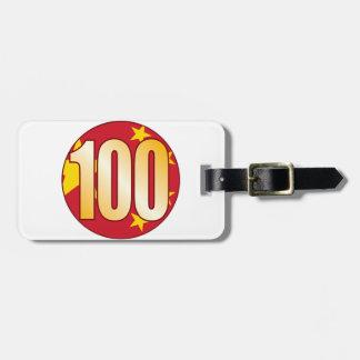 100中国の金ゴールド ラゲッジタグ
