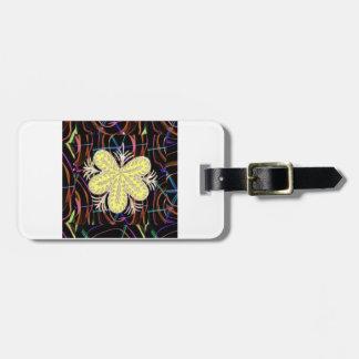 100個の低価格のギフトの抽象的な蝶一見の花 ラゲッジタグ