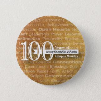100年ボタン! 5.7CM 丸型バッジ