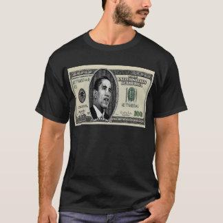 $100手形のオバマ Tシャツ