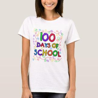 100日の学校の紙吹雪のTシャツおよびギフト Tシャツ