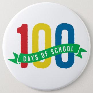 100日の学校ボタン 15.2CM 丸型バッジ