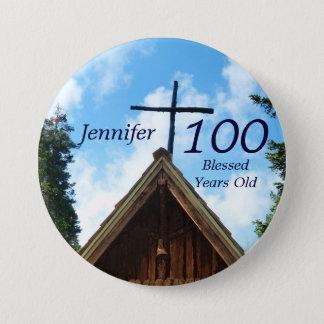 100歳、故国教会ボタンPin 缶バッジ