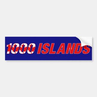 1000の島カナダ バンパーステッカー