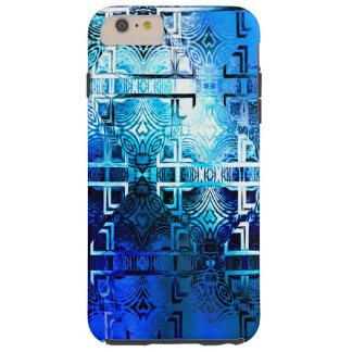 1001のライトパターン(青い) シェル iPhone 6 ケース