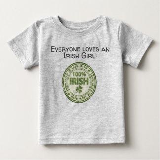 100%のアイルランド人のスタンプ ベビーTシャツ