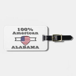 100%のアメリカ人、アラバマ ラゲッジタグ