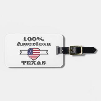 100%のアメリカ人、テキサス州 ラゲッジタグ