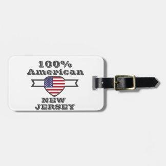 100%のアメリカ人、ニュージャージー ラゲッジタグ