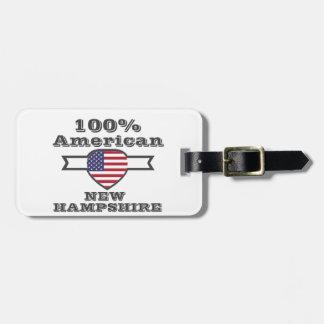 100%のアメリカ人、ニューハンプシャー ラゲッジタグ