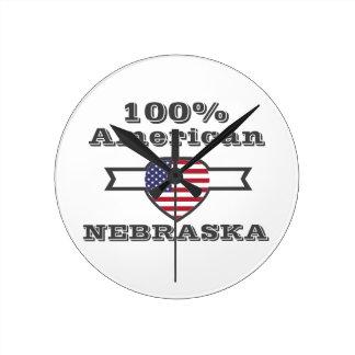 100%のアメリカ人、ネブラスカ ラウンド壁時計