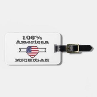 100%のアメリカ人、ミシガン州 ラゲッジタグ