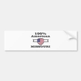 100%のアメリカ人、ミズーリ バンパーステッカー