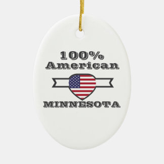 100%のアメリカ人、ミネソタ セラミックオーナメント