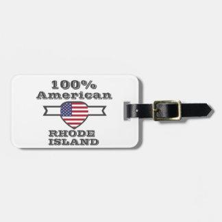 100%のアメリカ人、ロードアイランド ラゲッジタグ