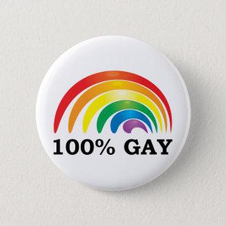 100%のゲイ 缶バッジ