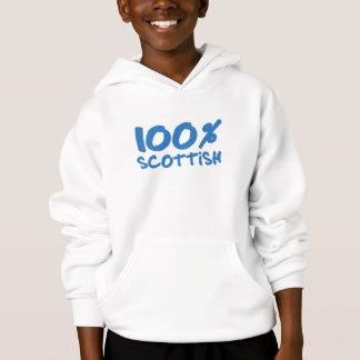 100%のスコットランドの子供のフード付きスウェットシャツ