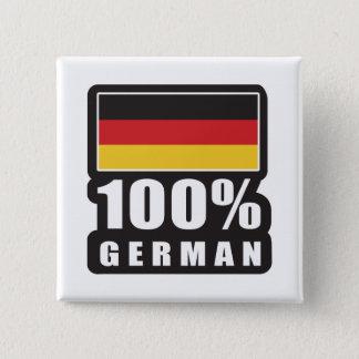 100%のドイツ語 5.1CM 正方形バッジ