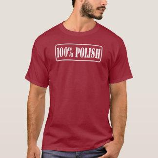 100%のポーランド語-ポーランド人百% Tシャツ