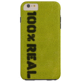 100%の実質の青リンゴ色のレザールック TOUGH iPhone 6 PLUS ケース