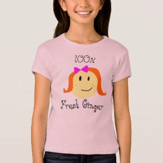 100%の新しいショウガ Tシャツ