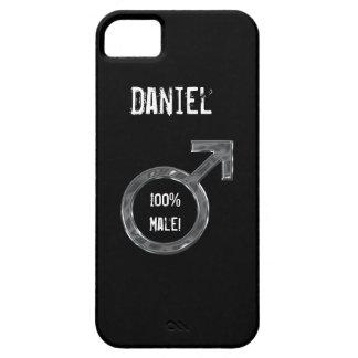 100%の男性! -男性の記号またはのどの金属+名前 iPhone SE/5/5s ケース