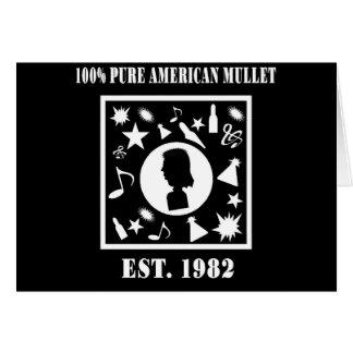 100%の純粋なアメリカのマレット米国東部標準時刻。 1982年 カード