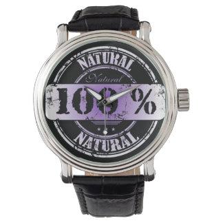 100%の自然な腕時計 腕時計