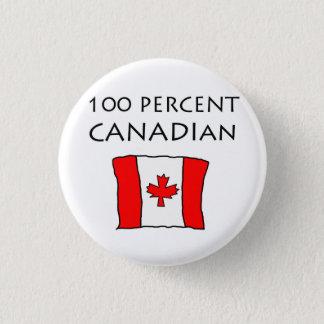 100%カナダ人 3.2CM 丸型バッジ