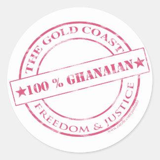 100%ガーナのピンク ラウンドシール