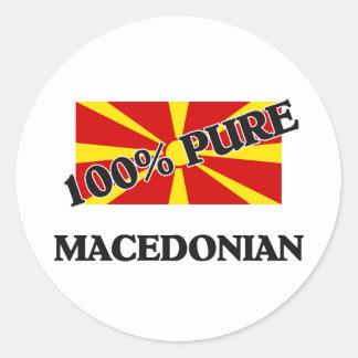 100%マケドニア人 ラウンドシール