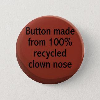 100%リサイクルされたピエロの鼻ボタン 缶バッジ