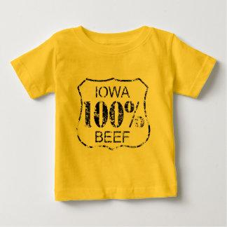 100%年のアイオワのビーフ ベビーTシャツ